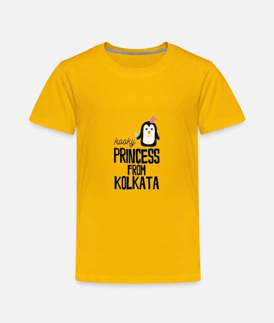 Nature T-Shirts - kooky Princess from Kolkata - Toddler Premium T-Shirt sun yellow