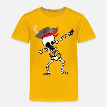 Pirate Dabbing Skeleton With Pirate's Hat T-shirt Gift - Toddler Premium T-Shirt