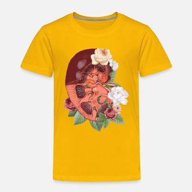 Organic Nature Nature - organs - kidney with flowers - Toddler Premium T-Shirt