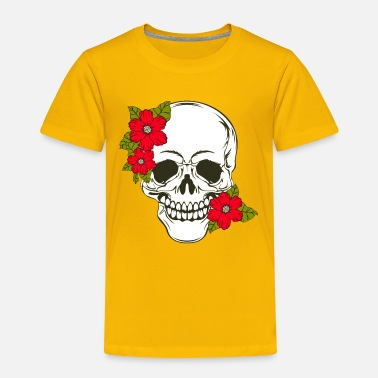 Skull Flowers Design - Toddler Premium T-Shirt