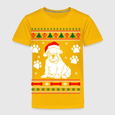 Bulldog Dog Ugly Christmas Sweater Xmas - Toddler Premium T-Shirt