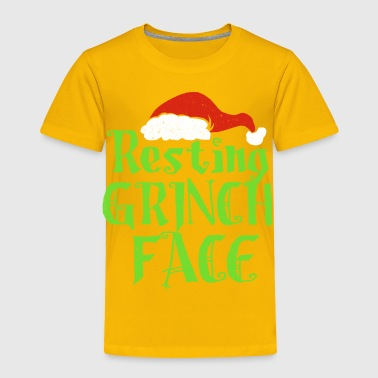 Resting Grinch Face Xmas Present gift - Toddler Premium T-Shirt