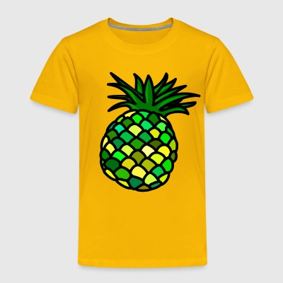 Fresh Pineapple in Great Colours - Toddler Premium T-Shirt