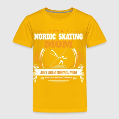 Nordic Skating Mom Shirt Gift Idea - Toddler Premium T-Shirt