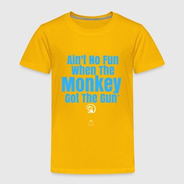 Ain't No Fun Monkey - Blue Heaven by Avenue J - Toddler Premium T-Shirt