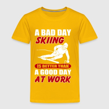 Skiing Lover Shirt. Costume Ideas For Daughter/Son - Toddler Premium T-Shirt