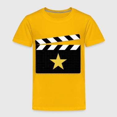 Movie Star Clapperboard Design for Film Lovers - Toddler Premium T-Shirt