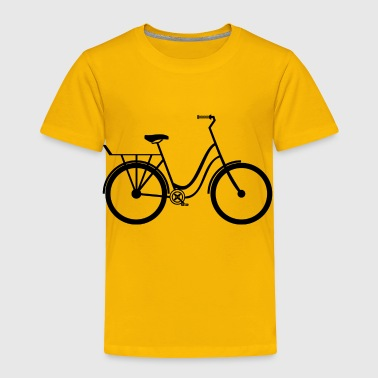 bicycle mountain bike cyclist mountainbike fahrrad - Toddler Premium T-Shirt