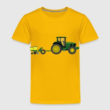 Farm tractor with planter - Toddler Premium T-Shirt