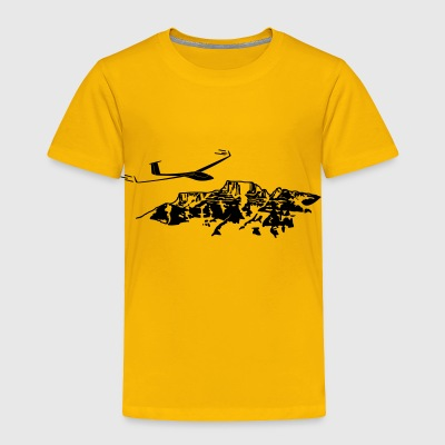 soaring pilot with mountain - Toddler Premium T-Shirt