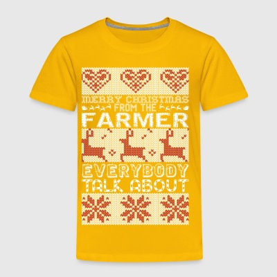 Merry Christmas Farmer Everybody Talks About - Toddler Premium T-Shirt