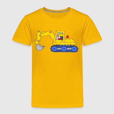 Backhoe Loader - Toddler Premium T-Shirt