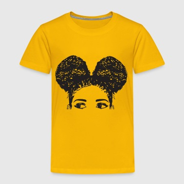 Pony Tail Girl Black Afro Female Cute Hair Style - Toddler Premium T-Shirt