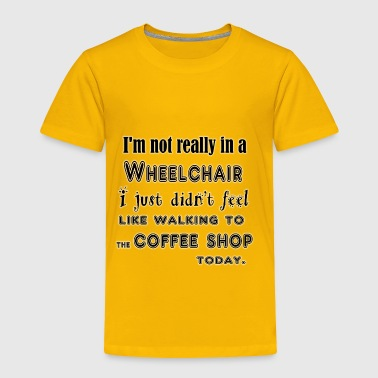 Walking to the coffee shop-black - Toddler Premium T-Shirt