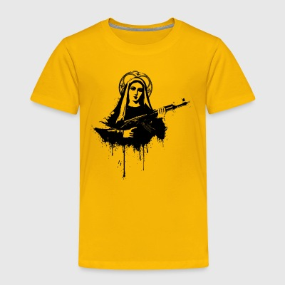 Virgin Mary with Kalashnikovs AK47 - Toddler Premium T-Shirt