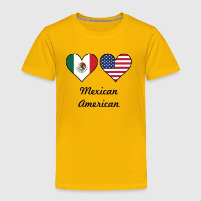 Mexican American Flag Hearts - Toddler Premium T-Shirt