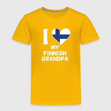 I Heart My Finnish Grandpa - Toddler Premium T-Shirt