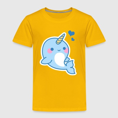 Cute Narwhal Tee Shirt - Toddler Premium T-Shirt