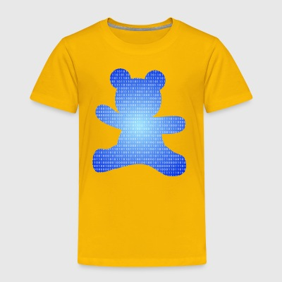 teddy bear out of binary code - Toddler Premium T-Shirt