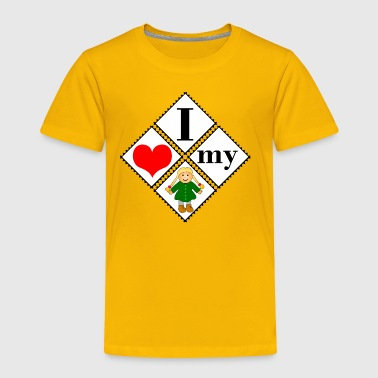 love my puppet - Toddler Premium T-Shirt