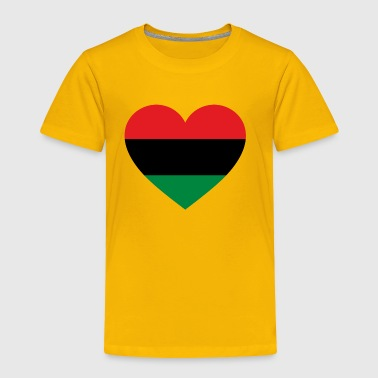 Pan-African History Flag Love Heart Symbol - Toddler Premium T-Shirt