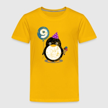 Kids Birthday 9 Year Boy Girl Cute Penguin Child - Toddler Premium T-Shirt