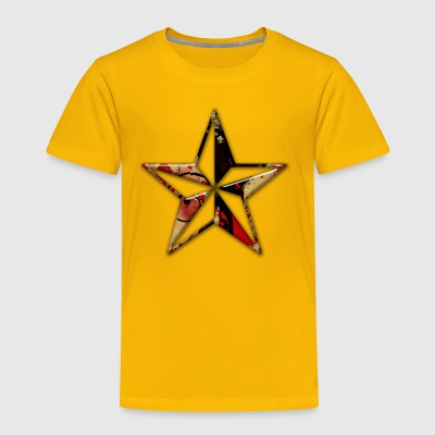 abstract red and gold paint splatter icon natural - Toddler Premium T-Shirt