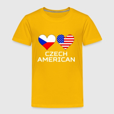 Czech American Hearts - Toddler Premium T-Shirt