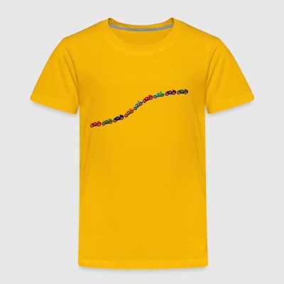 curved line of toys - cars - Toddler Premium T-Shirt