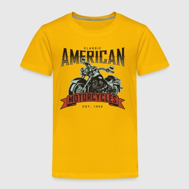 Classic American Motorcycles Established 1903 - Toddler Premium T-Shirt