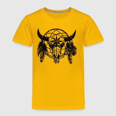 Dream Catcher Skull Bull T-Shirt - Toddler Premium T-Shirt