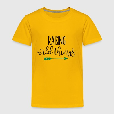 Raising Wild Things Mom Life - Toddler Premium T-Shirt