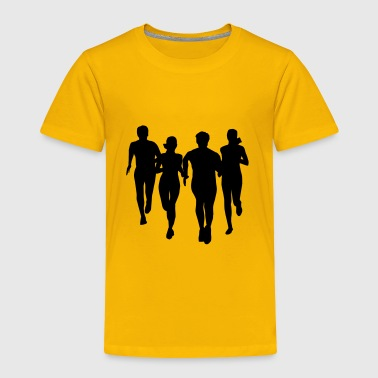 run, running - people running - Toddler Premium T-Shirt
