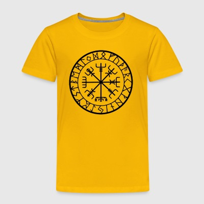 IKING WIKINGER PROTECTION RUNES COMPASS TALISMAN - Toddler Premium T-Shirt