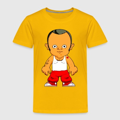Little Gangster Comic Figure Crime - Toddler Premium T-Shirt
