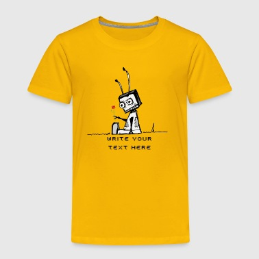 A robot with a flower  - Toddler Premium T-Shirt