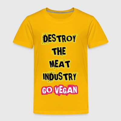 GO VEGAN - Toddler Premium T-Shirt