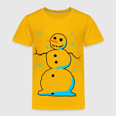 Sweet snowman with carrot nose coal mouth - Toddler Premium T-Shirt