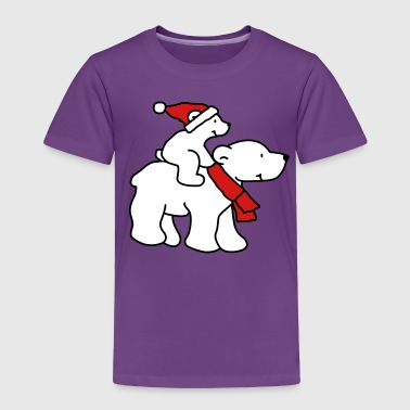 Polar Bear Christmas (3 colors) - Toddler Premium T-Shirt