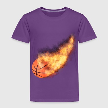 Flaming Basketball - Toddler Premium T-Shirt