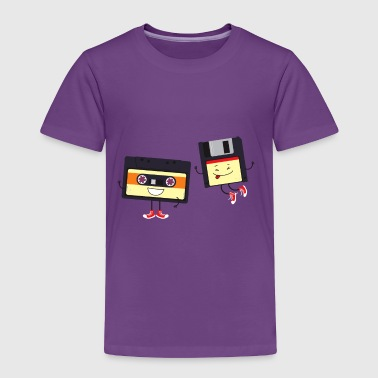 Floppy and cassette tape - Toddler Premium T-Shirt