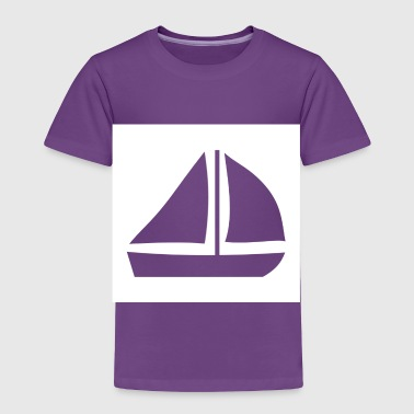 Sail Boat with two sails - Toddler Premium T-Shirt