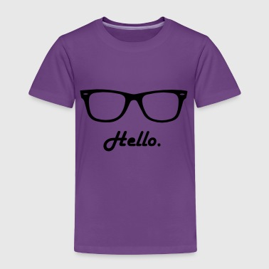 hipster glasses - Toddler Premium T-Shirt