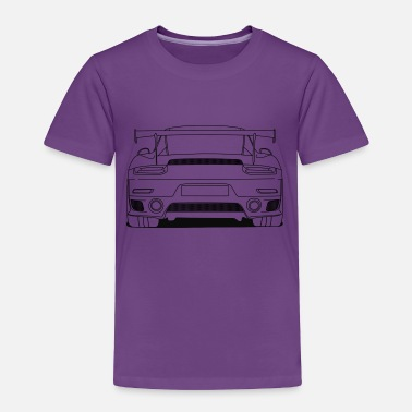 Cool Car cool car rear outlines - Toddler Premium T-Shirt
