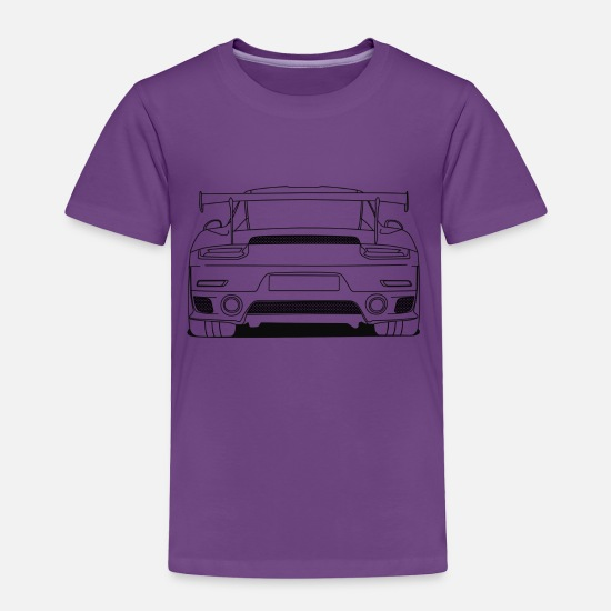Cool Baby Clothing - cool car rear outlines - Toddler Premium T-Shirt purple
