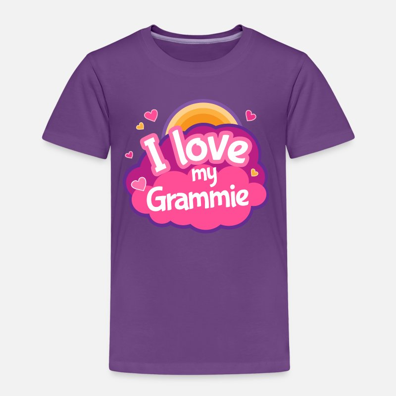 Grandma Baby Clothing - Grammie Grandma Gift - Toddler Premium T-Shirt purple