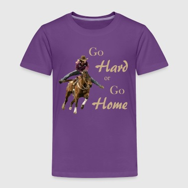 Barrel Racing BarrelRacer5GHGH tan - Toddler Premium T-Shirt