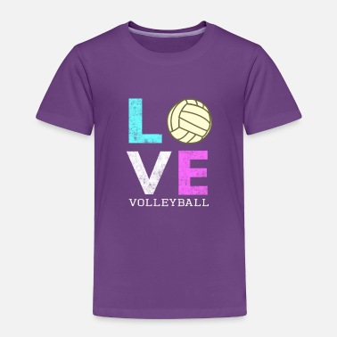 Ball Awesome Girls & Womens Volleyball Gift They LOVE Volleyball - Toddler Premium T-Shirt