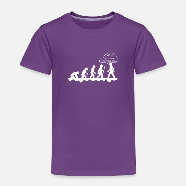 Cool Funny Evolution design for geeks and nerds - Toddler Premium T-Shirt