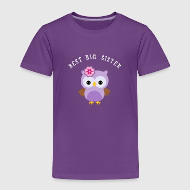 Big Sister Adult Best Big Sister with Cute Owl - Toddler Premium T-Shirt